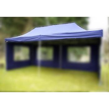 Samostatná střecha k zahradním párty stanům 3x6 m, modrá