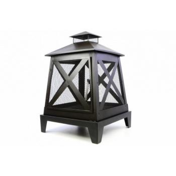 Venkovní designový ocelový krb na dřevo / uhlí, 82 cm
