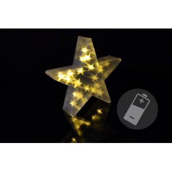 Vánoční svítící hvězda do bytu, k postavení, na baterie, 35 cm