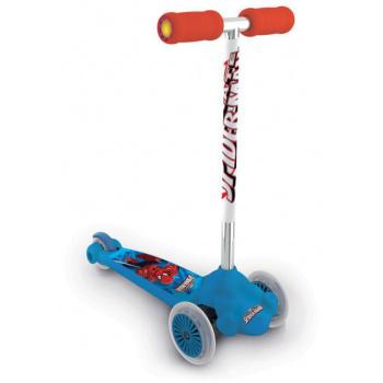 Dětská 3- kolečka s kloubovým řízením, 2 kolečka vepředu, potisk Spiderman