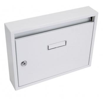 Nástěnná poštovní schránka klasického typu- paneláková, šedá