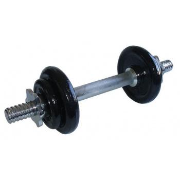 Jednoruční nakládací činka s kovovými kotouči 5,5 kg