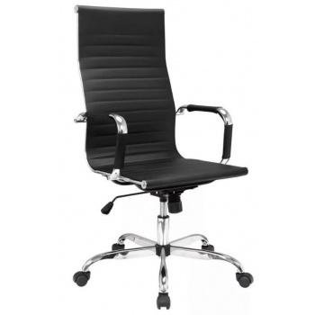 Elegantní designové kancelářské křeslo, anatomicky tvarované, černá / chrom