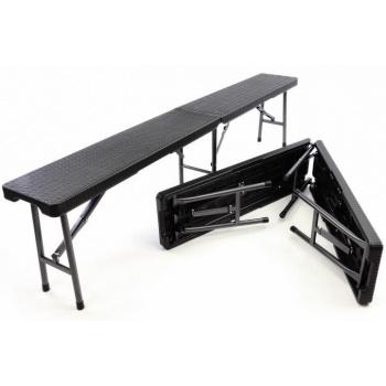 2 ks skládací pivní lavice 180 cm, kovová konstrukce / plastový sedák
