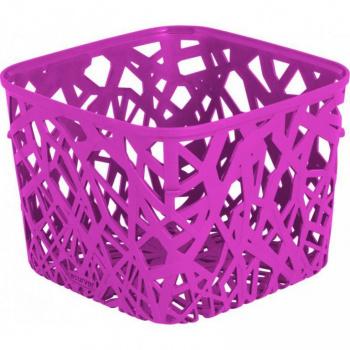 Plastový designový košíček na psací potřeby a jiné drobnosti, fialový