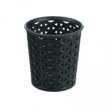 Plastový úložný kelímek na psací potřeby a jiné drobnosti, černý
