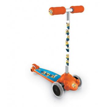 Dětská skládací koloběžka s kloubovým řízením, 2 kolečka vepředu, mimoňové