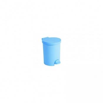 Plastový odpadkový koš 15 l, nožní pedál, bílý
