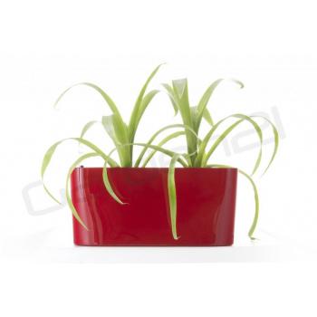 Samozavlažovací květináč / truhlík venkovní / vnitřní, 40 cm, červený