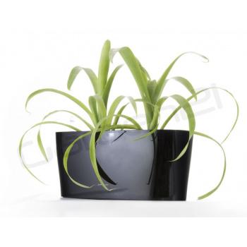 Samozavlažovací květináč / truhlík venkovní / vnitřní, 40 cm, černý