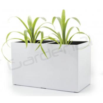 Samozavlažovací květináč obdélníkový, na 2 rostliny, 56 cm, bílý