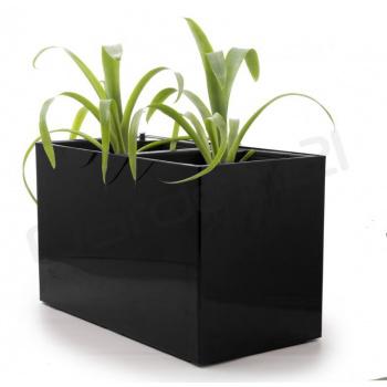 Samozavlažovací květináč obdélníkový, na 2 rostliny, 56 cm, černý