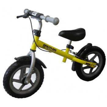 Dětské odrážedlo s kovovým rámem, pneu 12, žluté