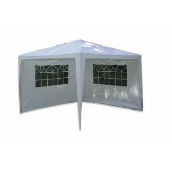 Zahradní párty stan / altán 3x3 m, 2 boční stěny s okny, bílý