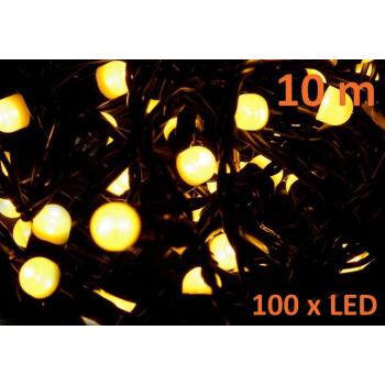 Vánoční řetěz s MAXI LED diodami venkovní / vnitřní, 10 m