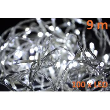 Vánoční osvětlení - LED řetěz venkovní / vnitřní, 100 LED diod, 9 m