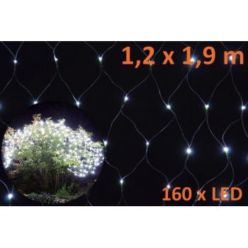 Vánoční světelná síť - závěs venkovní / vnitřní 1,2x1,9 m, 160 LED
