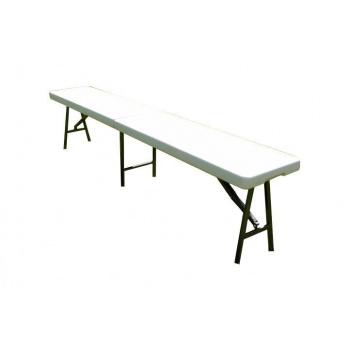 Venkovní skládací kempinková lavice 183 cm, kov / plast
