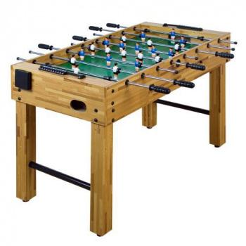 Stolní fotbal 121x101x79 cm, nastavitelné nohy, dřevěný vzhled