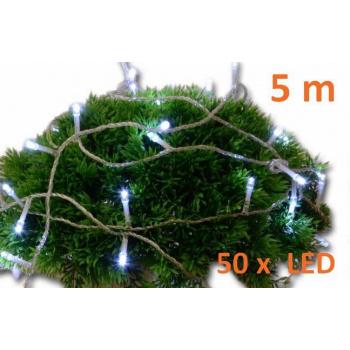 Vánoční osvětlení vnitřní - LED řetěz na baterie, 5 m