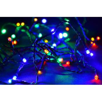 Vánoční osvětlení barevné - LED řetěz venkovní / vnitřní, 40 m