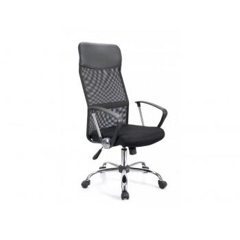 Elegantní kancelářská židle s prodyšným opěradlem, černá / chrom