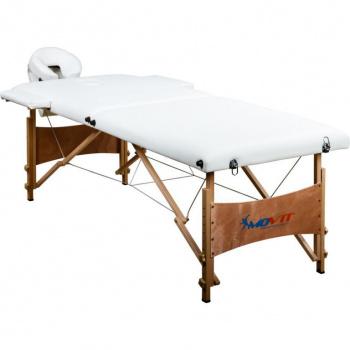 Masážní lehátko s opěrkou hlavy, přenosné, bílé