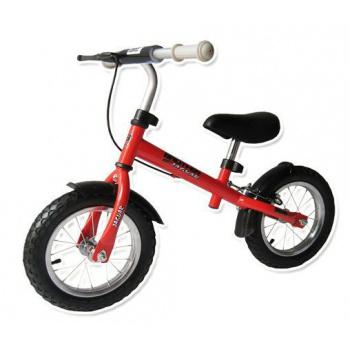 Dětské odrážedlo s kovovým rámem, pneu 12, červené