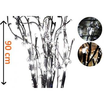 5 ks umělá svítící větvička s kapkami 90 cm, do bytu / na zahradu