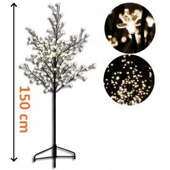 Umělý okrasný strom se svítícími květy venkovní / vnitřní, 1,5 m