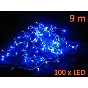 Vánoční svítící řetěz z LED diod venkovní / vnitřní, 100 LED, 9 m