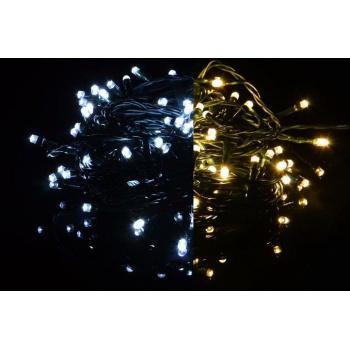 Svítící LED řetěz venkovní / vnitřní, blikající funkce, 9,9 m