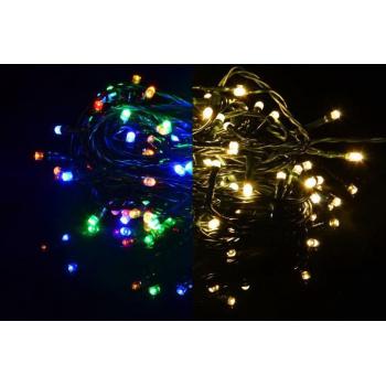 Svítící LED řetěz venkovní / vnitřní, přepínatelné funkce, 9,9 m
