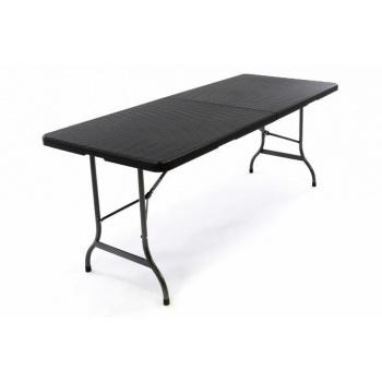 Skládací kempinkový stůl s kufříku, kov / plast