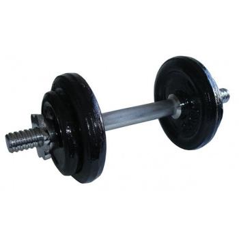 Nakládací jednoruční činka s kovovými kotouči 9 kg