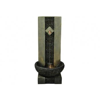Okrasná nástěnná kašna s tekoucí vodou, osvětlená, 89 cm