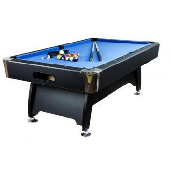 Velký kulečníkový stůl 8 ft, nastavitelné nohy, vč. vybavení, modrý