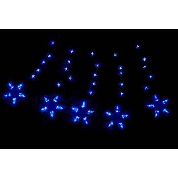 Vánoční svítící hvězdy na okno, vnitřní, 100 LED diod, modré