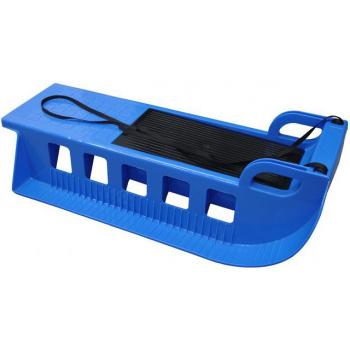 Dětské plastové sáňky s popruhem, úložný prostor, modré