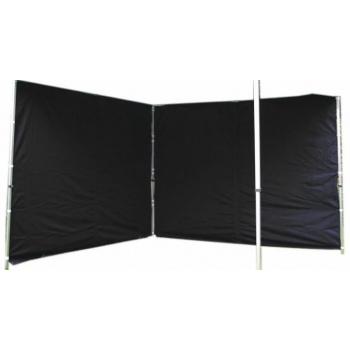 2 ks boční stěna pro PROFI zahradní stany, bez oken, černá