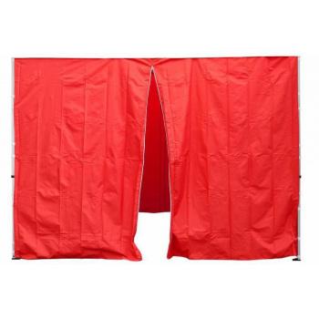 2 ks boční stěna pro PROFI stany, jedna se zipem, červená