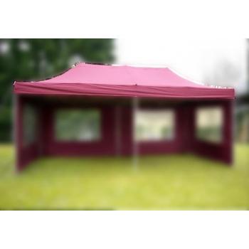 Samostatná střecha k zahradnímu párty stanu 3x6 m, vínově červená