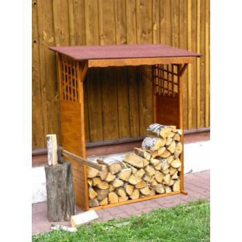 Přístřešek na dřevo- dřevník 130x60x168 cm