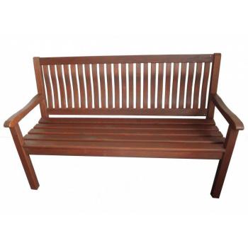 Zahradní lavice 150 cm, s područkami, impregnovaná borovice