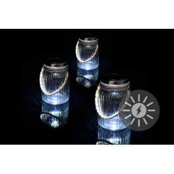 3 ks dekorativní solární lampičky- tvar sklenic