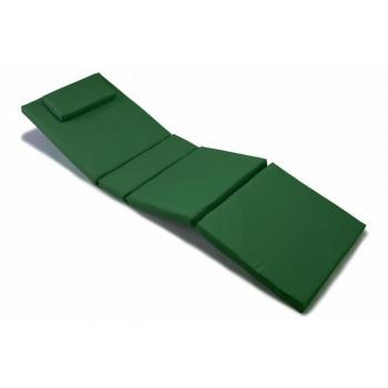 Luxusní polstrování na lehátko, snímatelný potah, tm. zelená