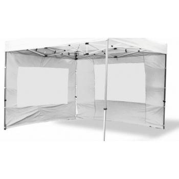 2 ks boční stěna pro PROFI zahradní stany, s oknem, bílá