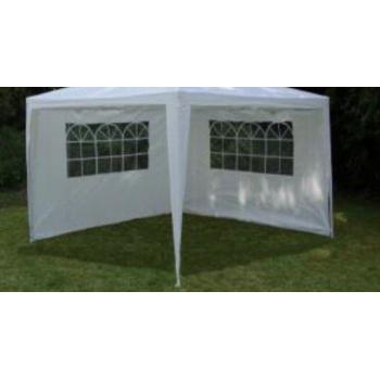 2 ks boční stěna s oknem z PE k zahradním párty stanům, bílá