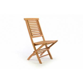 Masivní dřevěná skládací židle na zahradu, týkové dřevo