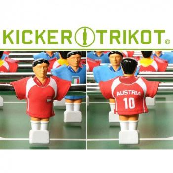 11 ks náhradní dresy pro figurky stolního fotbalu, Rakousko